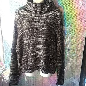 Melrose and market chunky metallic turtle neck
